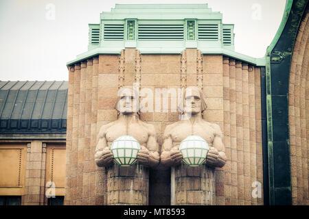 Helsinki main railway station - Stock Photo
