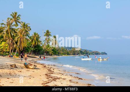 Sunny morning on the beach of Bang Po. Samui Island. Thailand. - Stock Photo