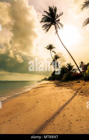 Morning on the beach of Bang Po. Samui Island. Thailand. - Stock Photo