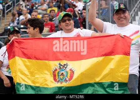 Chester, Pennsylvania, USA. 28th May, 2018. Bolivia fans in action during the match between Bolivia and the USA at Talen Energy Stadium in Chester Pennsylvania Credit: Ricky Fitchett/ZUMA Wire/Alamy Live News - Stock Photo