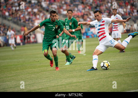Chester, Pennsylvania, USA. 28th May, 2018. USA's RUBIO RUBIN, (23) in action during the match between Bolivia and the USA at Talen Energy Stadium in Chester Pennsylvania Credit: Ricky Fitchett/ZUMA Wire/Alamy Live News - Stock Photo