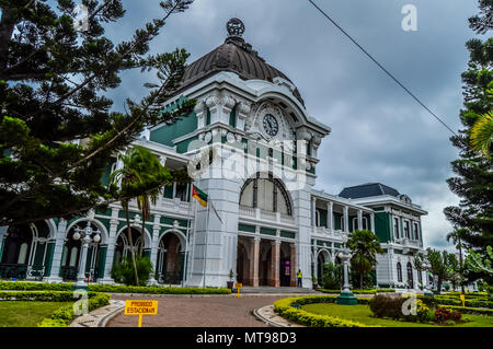 Maputo Central Train Station, Railway Station also known as CFM , Mozambique. Top things to do in Maputo.Voted among top 10 most beautiful train stati - Stock Photo