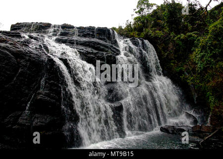 View to Bakers Waterfall in Horton Plains, Sri Lanka - Stock Photo