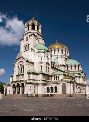 Alexander Nevsky Cathedral in Sofia, Bulgaria - Stock Photo