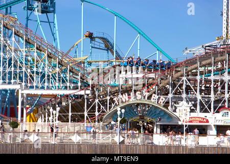 The amusement theme park Tivoli Gröna Lund (Luna Park) in Djugarden, Stockholm, Sweden - Stock Photo