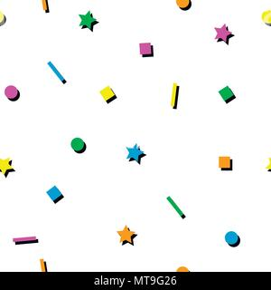 Abstract geometric seamless pattern - Stock Photo