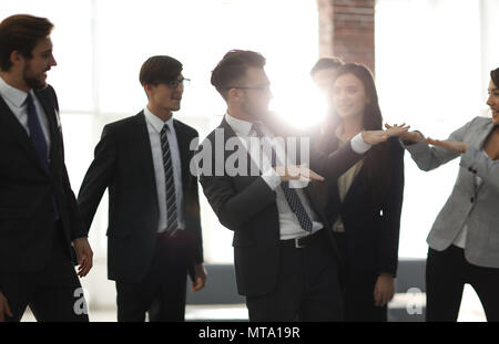 Business people team success celebration concept. - Stock Photo