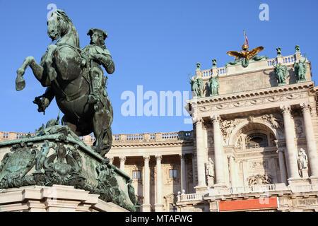 Prince Eugen of Savoy, Hofburg in Vienna, Austria - Stock Photo