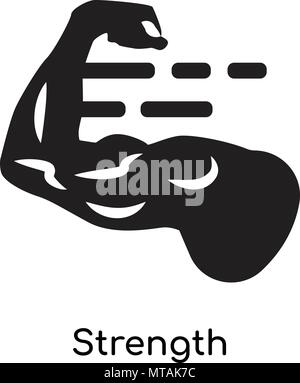 Strength icon isolated on white background for your web and mobile app design - Stock Photo