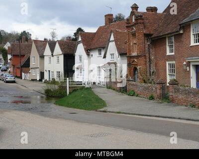 A view of the High Street, Clare, Suffolk, England - Stock Photo