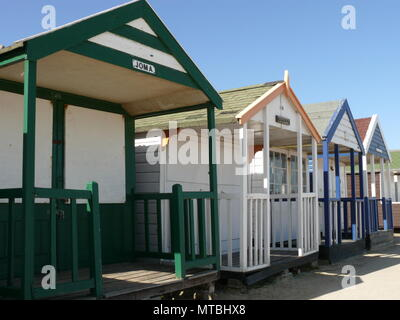 Southwold Beach Huts, Suffolk, England - Stock Photo