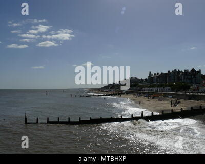 A view of the beach, Southwold, Suffolk, England - Stock Photo