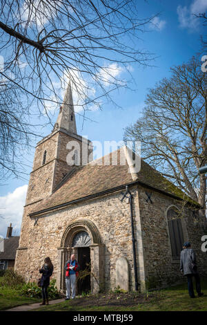 St. Peter's Church next to Kettle's Yard Art Gallery and House, Cambridge, UK - Stock Photo