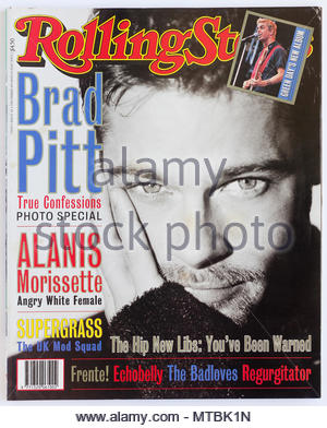 The cover of Rolling Stone magazine, issue 516, Brad Pitt - Stock Photo
