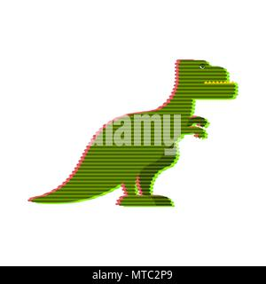 Halogram of dinosaur tyrannosaurus. Fantastic technology of future. Prehistoric predator. Vector illustration - Stock Photo