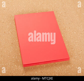 blank flyer poster on cork board stock photo 187133706 alamy