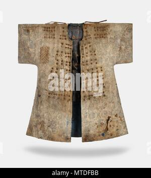 Cotton armor worn by 18th-century Korean soldier This image released by the Overseas Korean Cultural Heritage Foundation on May 30, 2018, shows a suit of cotton armor that was worn by a Korean soldier of the Joseon Dynasty in the 18th century. The museum of missionary works at St. Ottilien Archabbey, a monastery outside Munich, donated the armor to the foundation in January. It is not clearly known when the armor was shipped out of Korea, but it is believed to have been brought to Germany between 1910 and 1920, when the monastery's priests were active in Korea. (Yonhap)/2018-05-30 10:44:09/ <