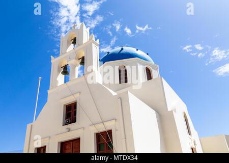 Greek Orthodox Church, Oia, Santorini, Greece - Stock Photo
