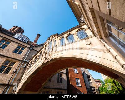 The Bridge of Sighs, Oxford Landmark, Hertford College, Oxford, Oxfordshire, England, UK, GB. - Stock Photo