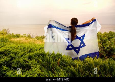 little Israeli girl - Stock Photo