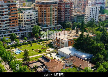 Villa of Enver Hoxha, 1944 to 1985 dictator of the Socialist People's Republic of Albania, Blloku district, Tirana, Albania - Stock Photo