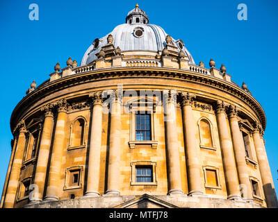 Oxford Landmark, Radcliffe Camera, Oxford University, Radcliffe Square, Oxford, Oxfordshire, England, UK, GB. - Stock Photo