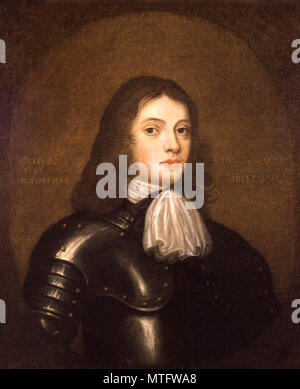 William Penn (1644 – 1718) son of Sir William Penn, English real estate entrepreneur, philosopher, early Quaker, and founder of the English North American colony the Province of Pennsylvania - Stock Photo