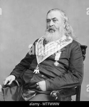 Albert Pike (1809 – 1891) American writer and Freemason. - Stock Photo