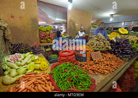 The Central Market (Bazaar) in Port Louis, Mauritius - Stock Photo