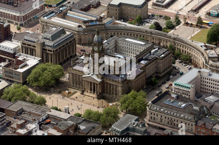 aerial view of Bolton Town Hall, UK - Stock Photo