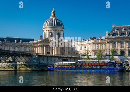 Academie Francaise and River Seine, Paris, France - Stock Photo