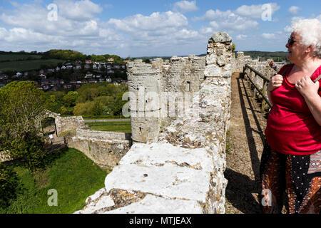 Carisbrooke Castle Newport isle of Wight England - Stock Photo