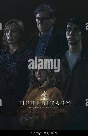 HEREDITARY (2018)  TONI COLLETTE  GABRIEL BYRNE  ALEX WOLFF  MILLY SHAPIRO  ARI ASTER (DIR)  A24/MOVIESTORE COLLECTION LTD - Stock Photo
