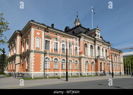 Historic City Hall of Kuopio, the cultural 'capital' of Savo province in Eastern Finland. - Stock Photo