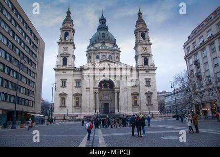 Budapest Hungary, 7th February 2018 St Stephens Basilica - Stock Photo