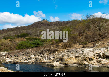 View inside the Somoto Canyon, a tourist hotspot in northern Nicaragua - Stock Photo