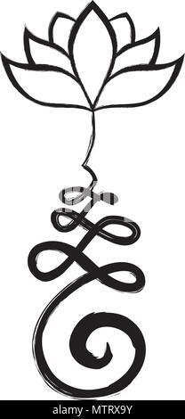 Unalome, Buddhist symbol for life path Stock Vector Art