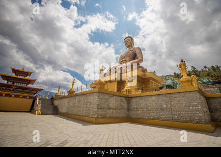 The Giant Buddha in Thimphu - Stock Photo