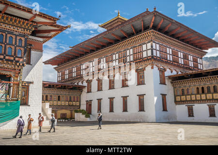 Inside Thimphu Dzong - Stock Photo