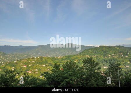 Batumi, Georgia, The view of the surroundings as seen from observation post at the Batumi cable car - Stock Photo