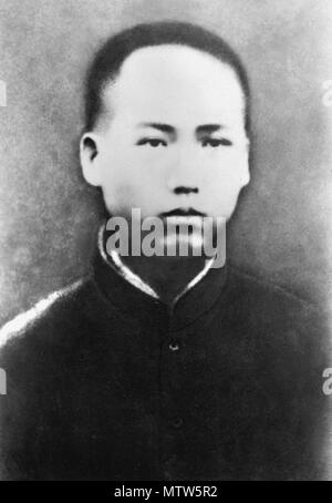 Mao Zedong (1893 – 1976), in 1913, Chinese communist revolutionary who became the founding father of the People's Republic of China, 1913 - Stock Photo