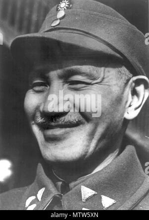 Chiang Kai-Shek, Chiang Kai Shek (1887 – 1975),c political and military leader who served as the leader of the Republic of China between 1928 and 1975. - Stock Photo