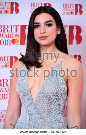 Embargoed to 0001 Thursday May 31 File photo dated 14/03/18 of singer Dua Lipa, who appears in Vogue magazine's inaugural guide to Britain's 25 most influential and aspirational female figures. - Stock Photo