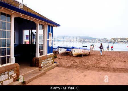 The waiting room for the ferry crossing to Teignmouth, on Shaldon Beach - Stock Photo