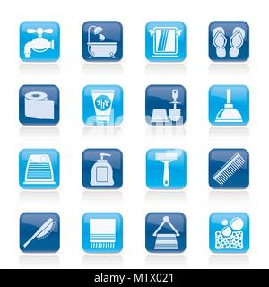Bathroom and Personal Care icons- vector icon set 1 - Stock Photo