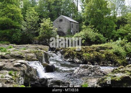 Cenarth watermill on the River Teifi e - Stock Photo