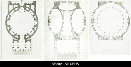 Comparison Of The Ground Plans Of The Pantheon In Rome Left And