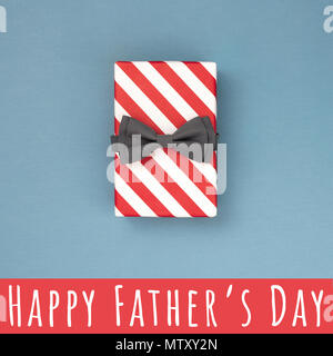 Happy Father's Day inscription with tie, coffee cup ...