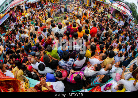 'Rathyatra' the journey of Jagannath, Sylhet, Bangladesh. - Stock Photo