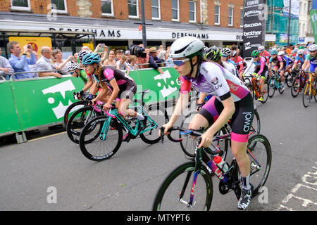 Salisbury, UK. 31st May 2018 Salisbury. Part of the recovery programme for Salisbury after recently nerve agent attack, the city hosted the finals of the elite OVO Energy Tour Series. Wiltshire Council and Salisbury City Council supported the race, which took place in Wiltshire for the first time as part of the Salisbury recovery programme. The prestigious tour reach its exciting climax, when the men's and women's teams race for victory after competing in eight previous rounds in different cities. Credit: © pcp/ Alamy Stock Photo (Default)/Alamy Live News - Stock Photo